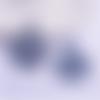 1 pendentif breloque - plume - gris - filigrane - laser cut