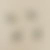 1 breloque abeille - strass - emaillé rouge  - argenté