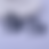 1 pendentif breloque - oiseaux colibris - noir - filigrane - laser cut