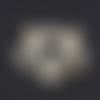 1 breloque pendentif - renard - acier inoxydable - doré