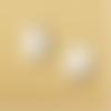 1 breloque licorne - noire - email  -  métal doré