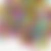 1 lot de 100 perles lettres alphabet en acrylique - lettres noires sur fond multicolore