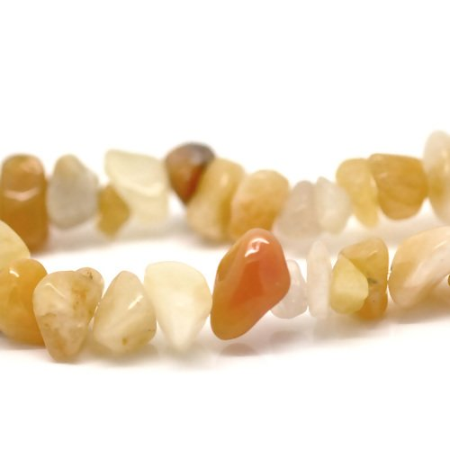 Lot de 30 perles jades chips irrégulières - pierre synthétique - r1276
