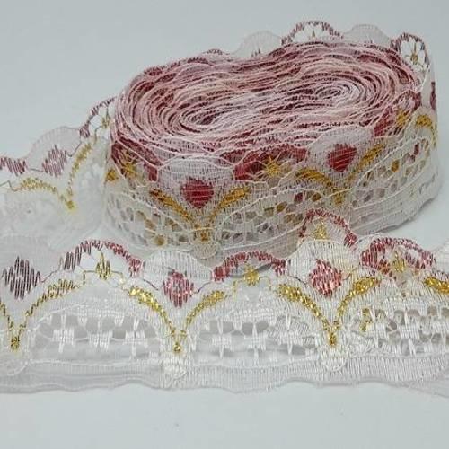 3 m  Dentelle Blanche 15 mm  Coton Guipure Crochet mercerie ancienne couture
