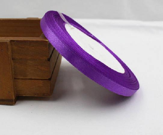 1 m de Ruban en Satin - Violet - 6 mm