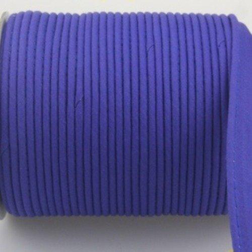 Passepoil - dépassant - coton  - bleu roi - 12 mm - vendu au mètre