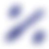 Fermeture eclair  - non séparable 20 cm - bleu roi