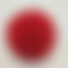 1 pompon fourrure lapin angora - 6 cm - rouge