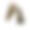 10 perles coupelles longues cône - bronze