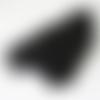 Chaîne aluminium - teintée noire - vendu par 0.50 cm
