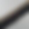 Galon thermocollant frange couture, largeur 5 cm, noir.