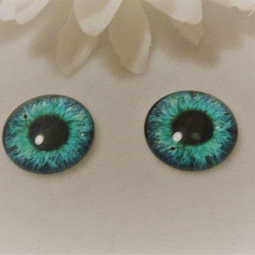 Cabochon en verre rond de 18 mm / 1.8 cm thème fantastique: oeil, pupille, fleur, moderne3