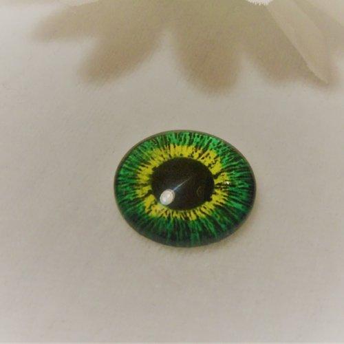 Cabochon en verre rond de 18 mm / 1.8 cm thème fantastique: oeil, pupille, fleur, moderne5