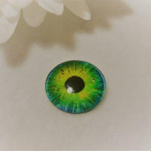 Cabochon en verre rond de 18 mm / 1.8 cm thème fantastique: oeil, pupille, fleur, moderne6