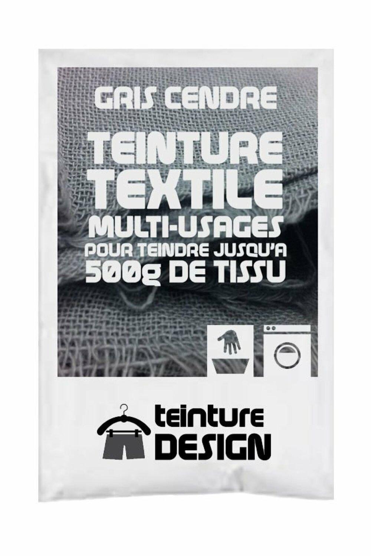Teinture Design pour tissu/textile/vêtement coloris gris clair/cendre 3