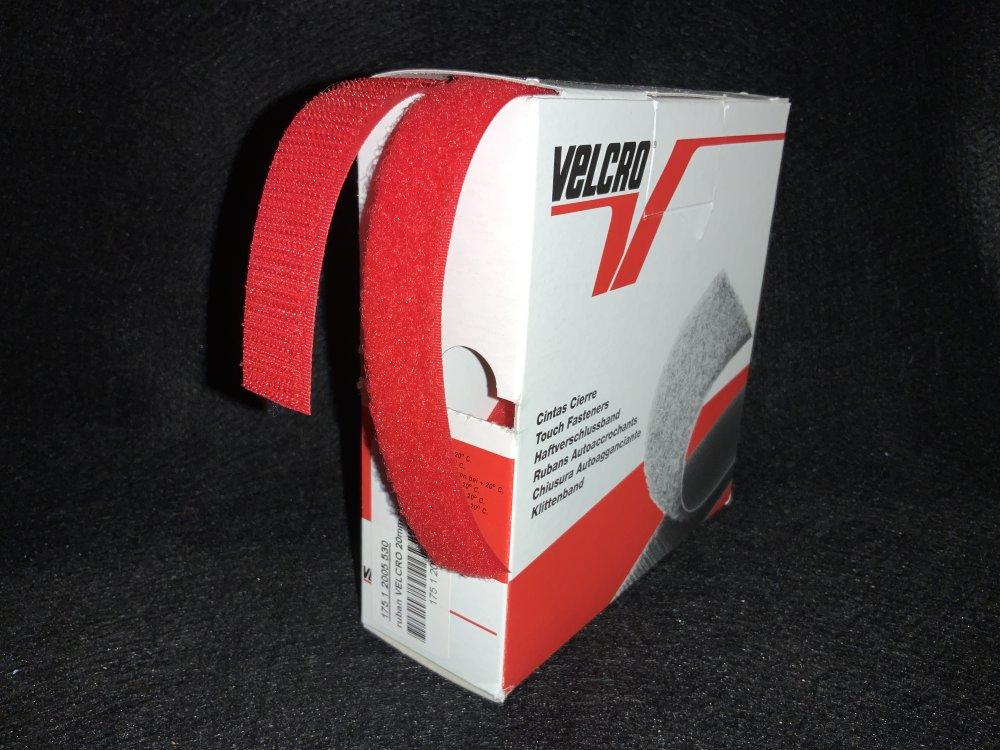 velcro,rubans bandes auto-agrippantes,scratch à coudre rouge 20mm au mètre