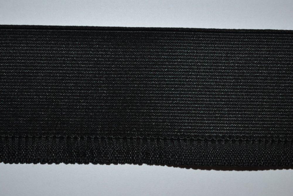 Elastique bord côte pour jupe / jupette au mètre noir 60mm / 6 cm oeko-tex