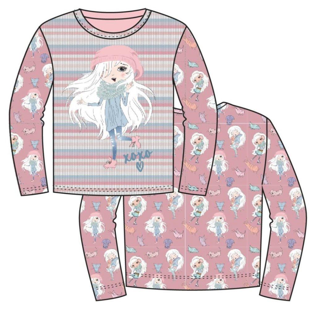 Panneau en jersey  une fille en hiver