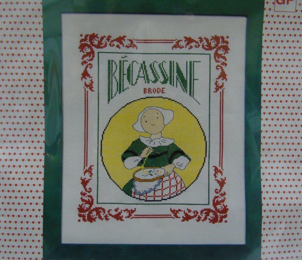 """Kit points de croix """"Bécassine brode"""", 7112"""