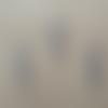 Lot de 50 breloques ailes d'ange 2,5cm argenté