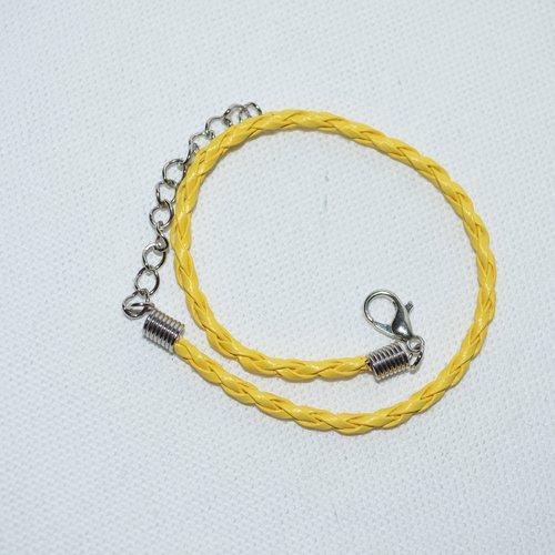 Cordons pour création de bracelet jaune