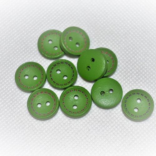 Lot de 30 bouton vert