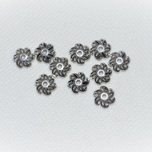 Lot de 170 décoration de perles argentée 3 à 4 mm