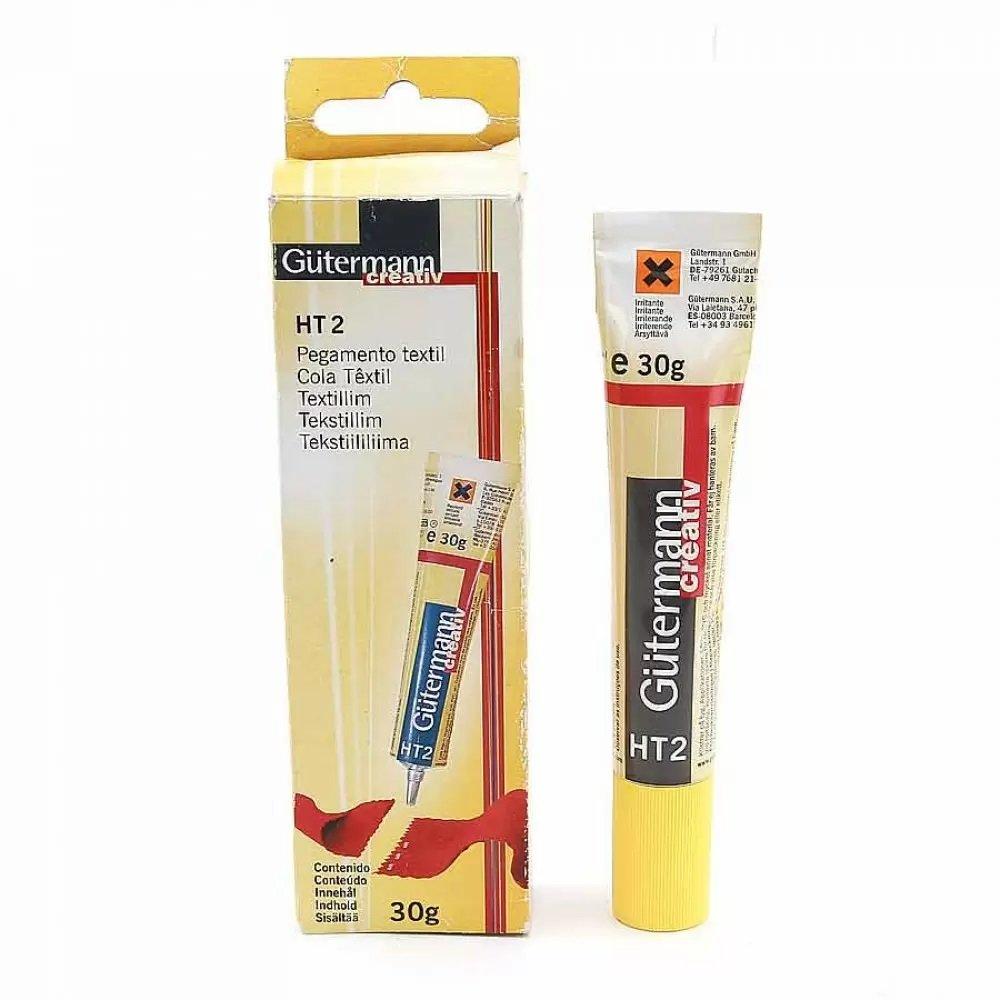 1 Tube de Colle 30 mg pour Textile Tissus Masque Bricolage Loisirs Créatifs Gütermann HT2