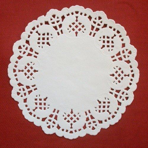 100 petits napperons en papier dentelle 14cm motifs fleurs diamètre pour scrapbooking raf b5