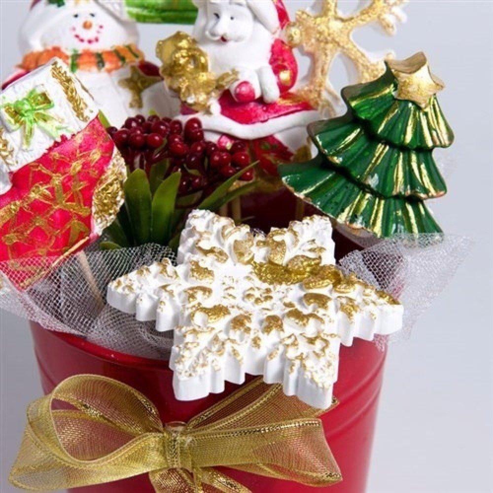Moule Silicone Flocon de Neige Cristal étoile Noël pour Pâte Polymère Fimo Plâtre Savon Cire Résine Argile Polyester K102 HK