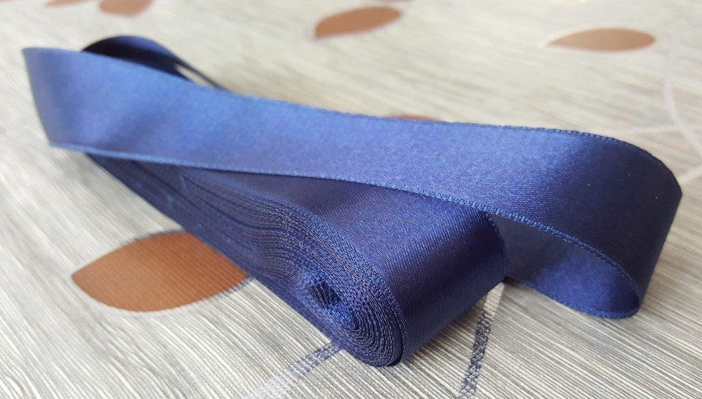 10 mètres de Ruban largeur 29mm 2,9cm en Tissu Satin Bleu Marine pour décoration emballage couture A8