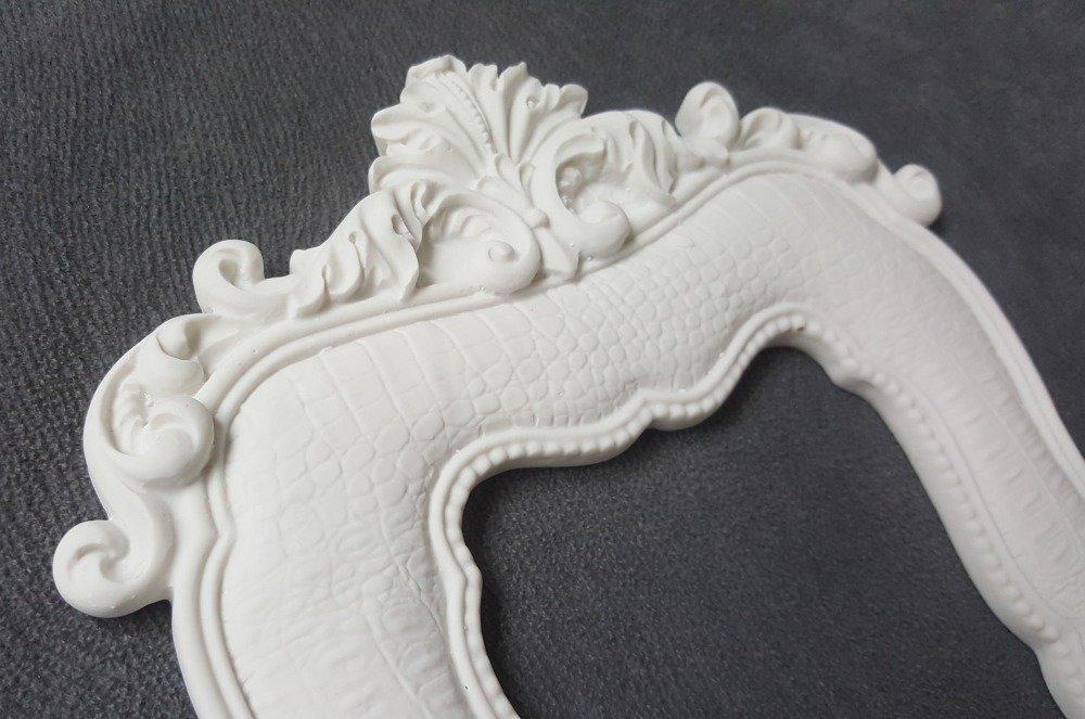 Moule Silicone Cadre Photo Rectangle Fleur 27cm pour Pâte Polymère Fimo Plâtre WEPAM Résine Cire Savon Argile K361 OB