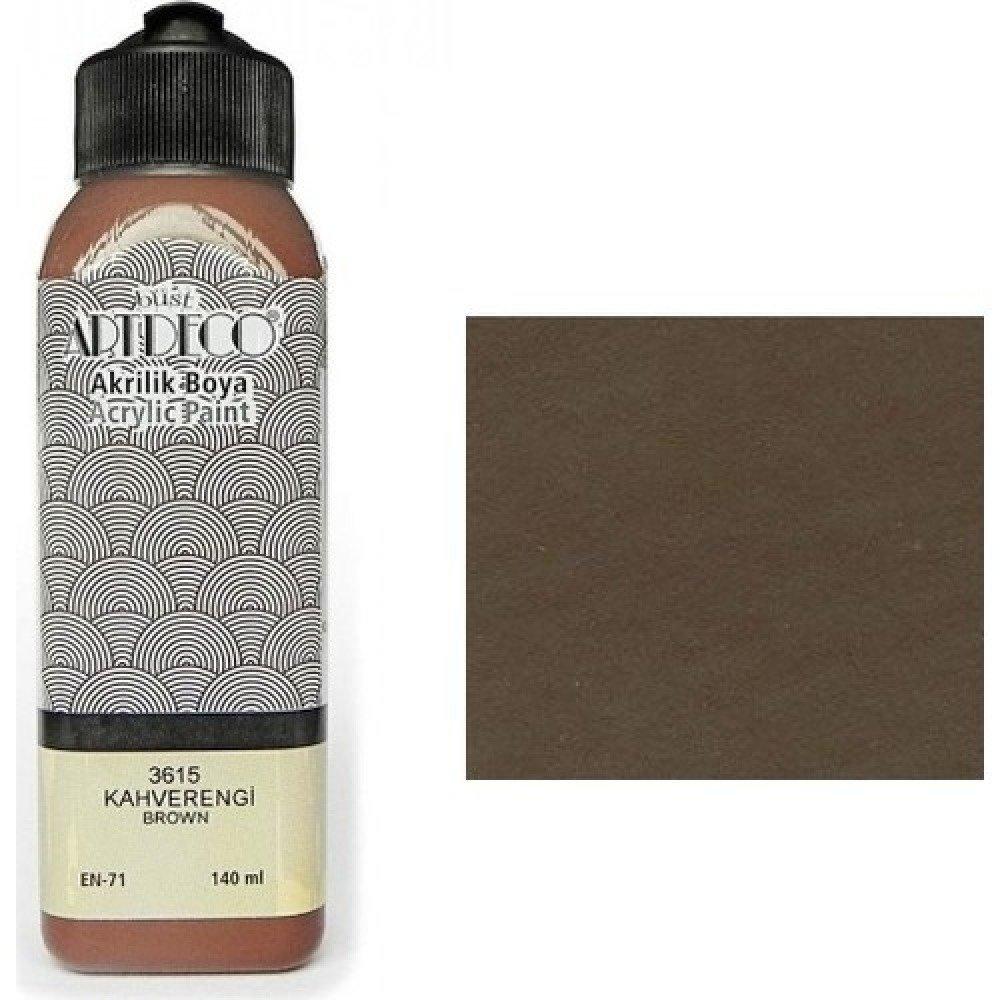 140ml de peinture Acrylique MARRON 3615 ou Peinture à l'eau pour Plâtre ou Poudre de Marbre