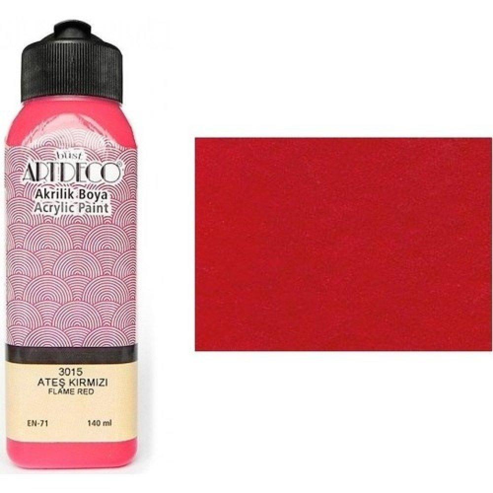 140ml de peinture Acrylique Rouge Feu 3015 ou Peinture à l'eau pour Plâtre ou Poudre de Marbre