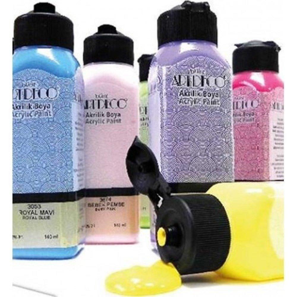 140ml de peinture Acrylique Blanc 3670 ou Peinture à l'eau pour Plâtre ou Poudre de Marbre