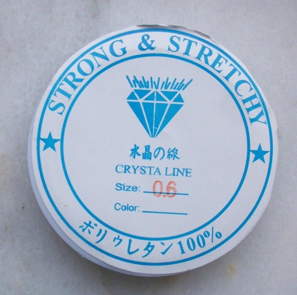 7 Mètres de fil Stretch élastique Transparent 0,8mm de diamètre