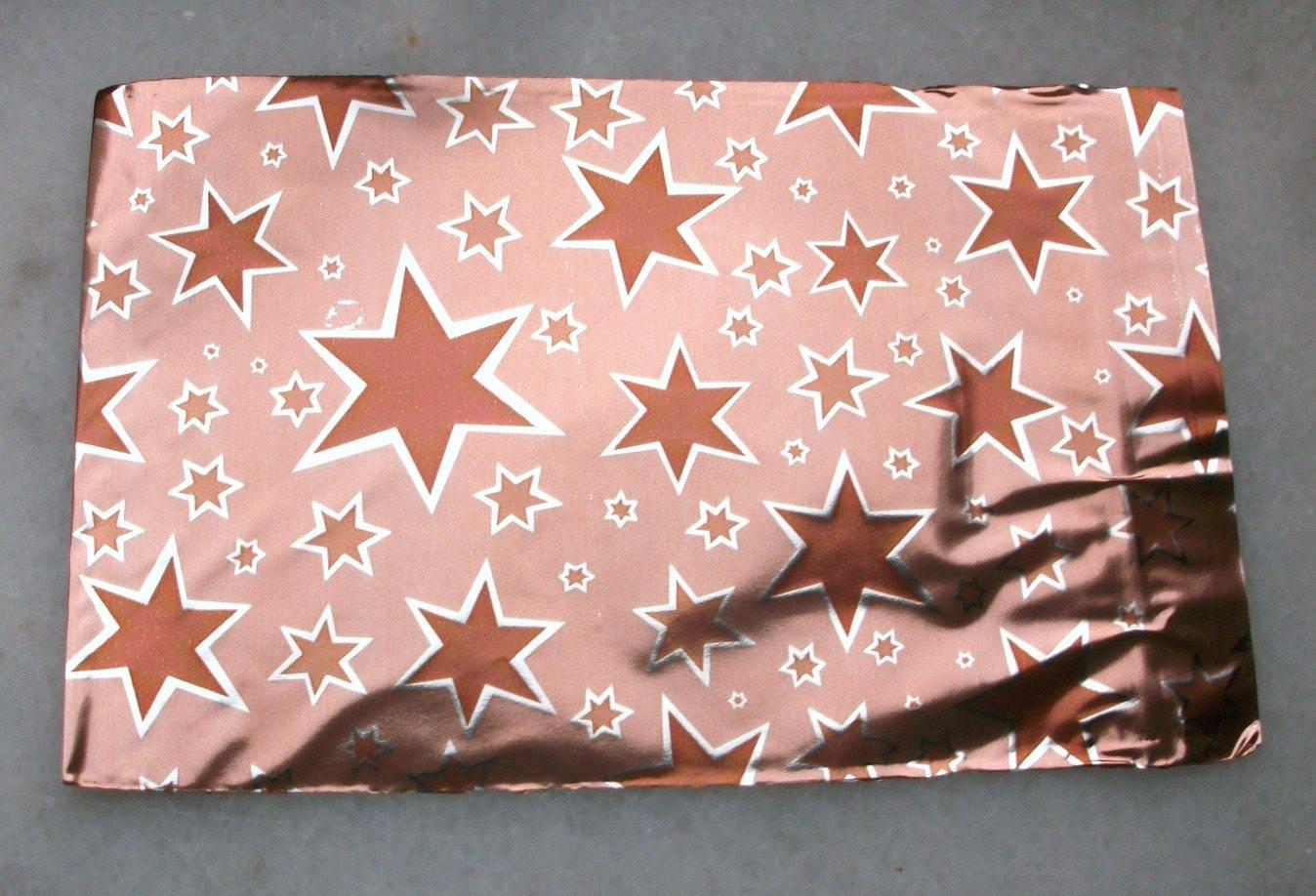 10 EMBALLAGES 8cm Pochettes Cadeaux Métallisé étoile Marron Sachets avec rabat à Ruban adhésif C32