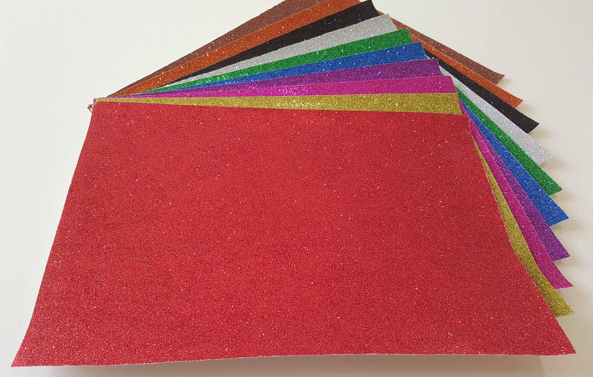 1 Feuille Pailleté ROUGE Couleur Créative avec Paillette Format 20x30cm pour activités manuelles Scrapbooking