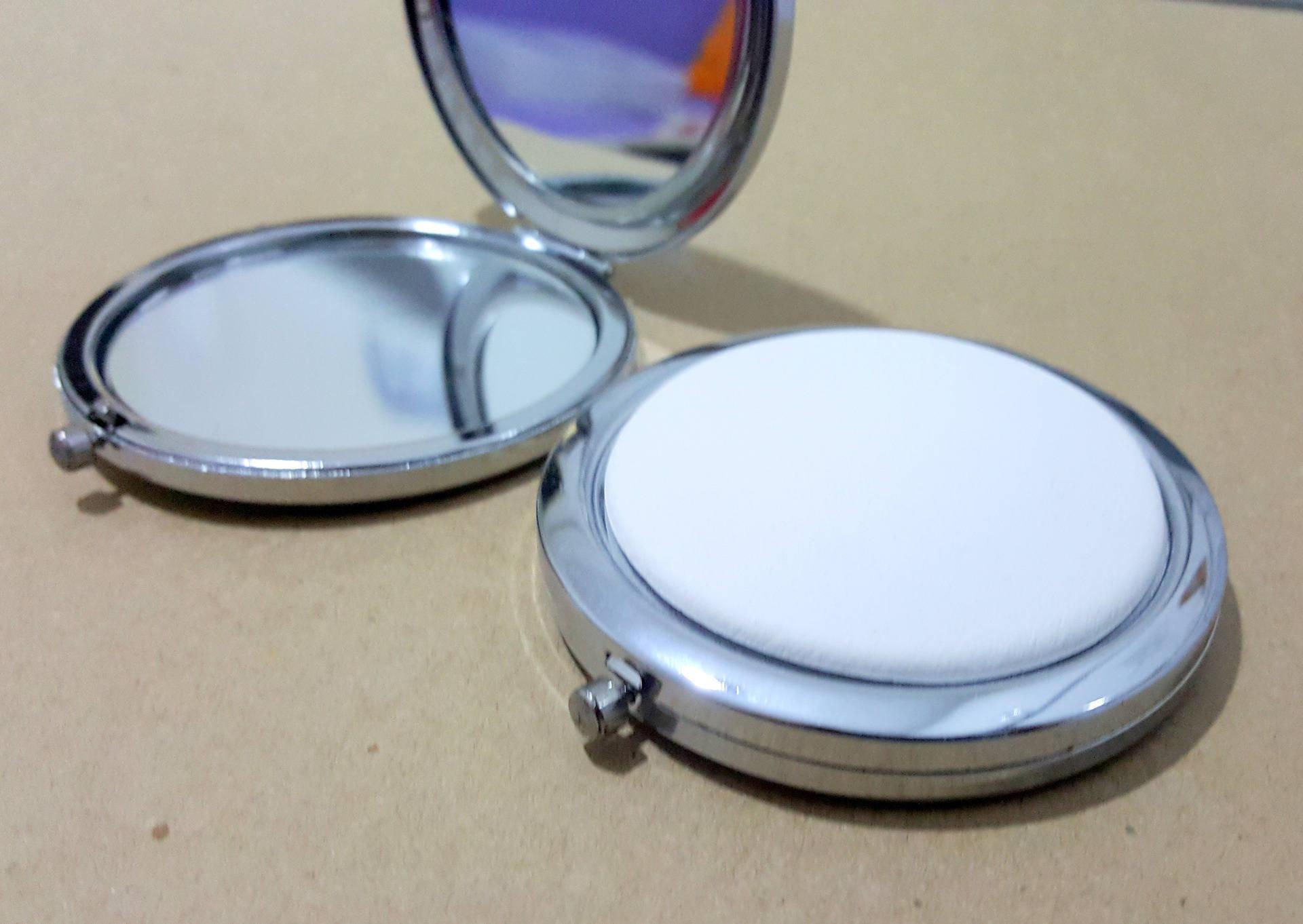Customiser Un Cadre De Miroir kit miroir de poche rond en métal argenté 7cm avec cabochon en céramique  customiser décorer