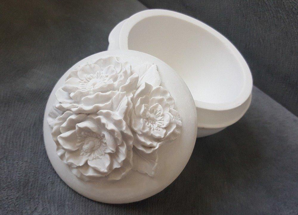 Moule Silicone Boîte à bijoux perles Fleurs Hibiscus pour Plâtre Pâte Polymère Fimo Porcelaine Savon Argile Résine Cire K281 OAK