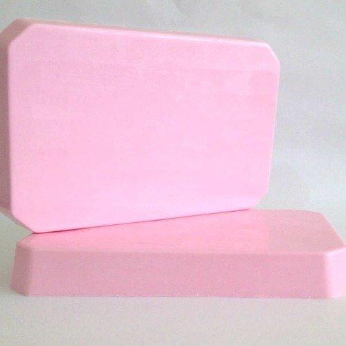 1kg bloc de savon à mouler pain de savon  de couleur rose