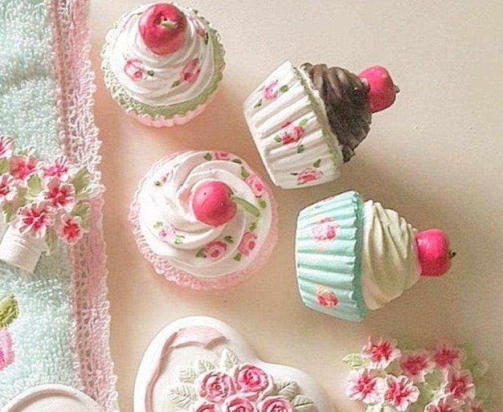 Moule Silicone Cupcake Gâteaux Chantilly Cerise 3D pour Bougie Pâte Polymère Fimo Plâtre WEPAM Savon Argile Résine Cire K397 çA