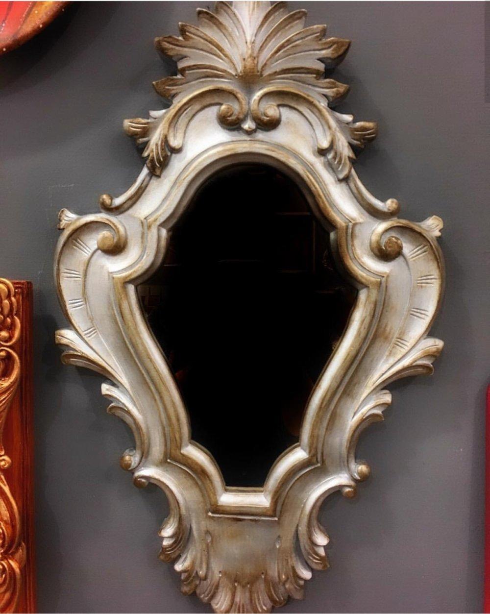 Grand Moule Silicone Cadre Photo Miroir 53cm Feuilles Baroque Vintage Pâte Polymère Fimo Plâtre WEPAM Argile Ciment Epoxy Polyester