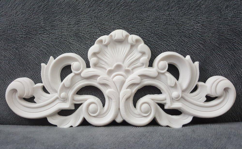 Moule Silicone Applique Baroque 24cm Décor pour Porte Armoire Mur Meubles Pâte Polymère Fimo Plâtre Résine Cire Savon Argile K459 HTK