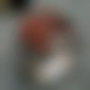 Bague chevalière en argent massif 925 serti cabochon en pierre naturelle semi précieuse d agate