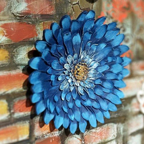 Moule silicone fleur soucis 27cm déco 3d pour plâtre porcelaine cire savon argile résine polyester ciment béton wepam k601 1g2180