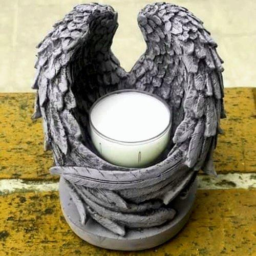 Moule silicone support bougie chandelier ailes ange bougeoir pour plâtre pâte polymère fimo porcelaine cire savon résine argile