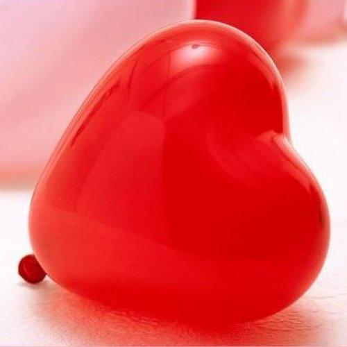 1 ballon coeur rouge pour fêtes anniversaire mariage baptême st valentin noël 32cm