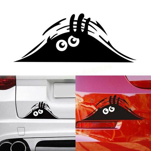 1 autocollant vinyle fantôme noir pour auto moto voiture maison mûrs miroir objet gg