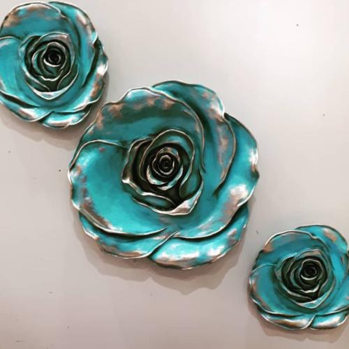 Moule silicone fleur 19cm rose 3d déco pour plâtre cire savon argile résine bougie polyester ciment béton wepam k690 1g750